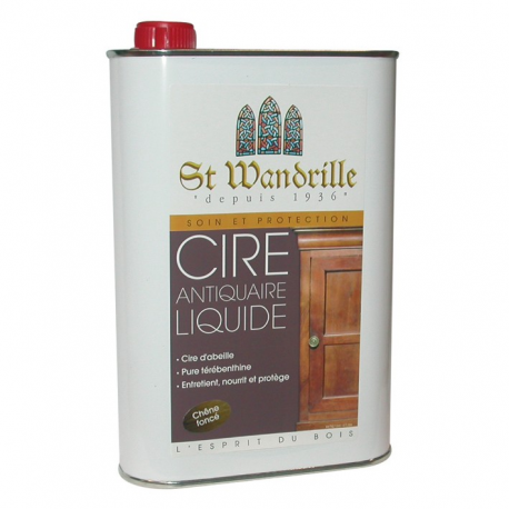cire antiquaire saint wandrille liquide ch ne fonc 1l. Black Bedroom Furniture Sets. Home Design Ideas