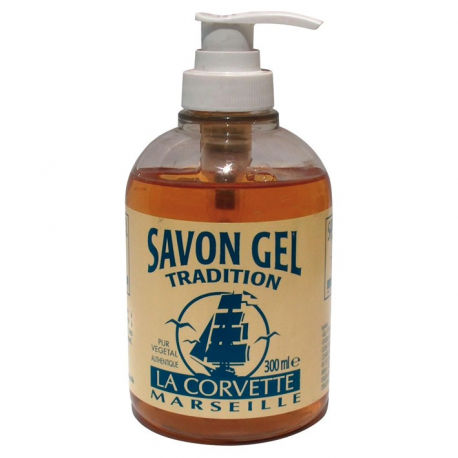Savon gel nature La Corvette pompe 300