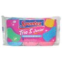 Éponge spontex s junior x3