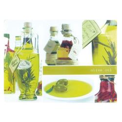 Planche à découper en verre 40x30 olive oil