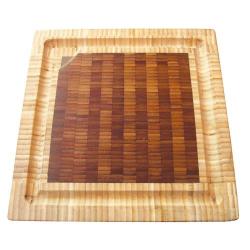 Billot de table carre en bois debout