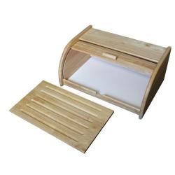 METALTEX - Boîte à pain avec planche à découper