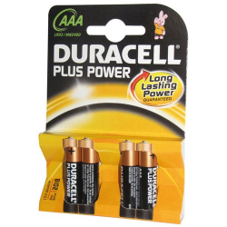 Pile alcaline AAA/LR03 Duracell Plus Power x 4