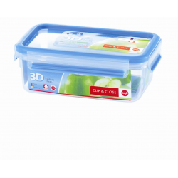 Boîte rectangulaire 1,00l Clip & Close 3D EMSA