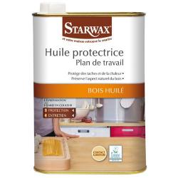 Huile de soin plan de travail incolore STARWAX 500ml