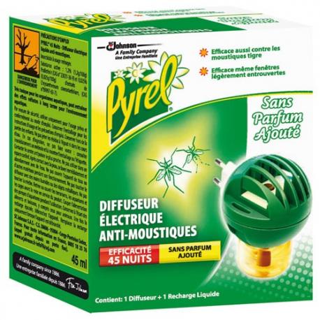 pyrel diffuseur liquide 45 nuits naturel insecticides insectes volants droguerie paris. Black Bedroom Furniture Sets. Home Design Ideas