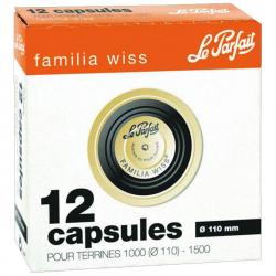 Capsules x12 Familia Wiss 110mm