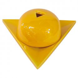 Brûleur papier Arménie céramique jaune